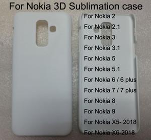 Custodia per cellulare Blank Sublimation per Nokia 2 2.1 Nokia 3 3.1 / 5 5.1 / 6 7 8 X5 X6 Plus 3d Custodia per cellulare con stampa Hard PC 10 pezzi / lotto.