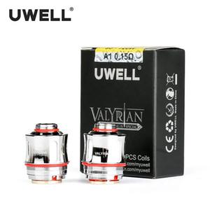 100% Аутентичные Uwell Crown ВАЛИРИЙСКАЯ Замена катушки 0.15 Ом 2шт / упак катушки Голова и Uwell Нунчаку 0.25 Ом 0.4 Ом атомайзер Uwell