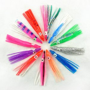 30 قطع 12 سنتيمتر لينة البلاستيك الأخطبوط الصيد السحر ل jigs مختلط اللون مضيئة سيليكون الأخطبوط تنورة القفز الاصطناعي الطعم 37 z2