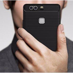 Ударопрочный углеродного волокна Case для Huawei P9 P10 P20 Lite Case резиновый телефон Case для Huawei P9 Lite 2016 задняя крышка p9 plus