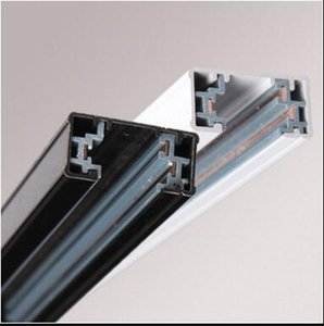 Free Shipping High quality white and black finishing 3 wires track rail 1m pcs 3 years warranty