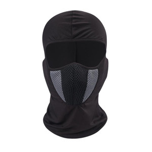 Casco di protezione maschera di protezione piena maschere moto Airsoft traspirante Paintball La bici di riciclaggio di sci Pratico Soft Touch Polvere Cappello Proof 13 8xg Z