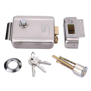 Electric Electronic Door Lock 12V Stainless Steel for Video Doorphone Intercom