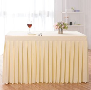 Скатерть Solid Color Table Cover Таблица Юбка Свадьбы Встреча Декор отель Столы Ткань 140 * 60 * 75см