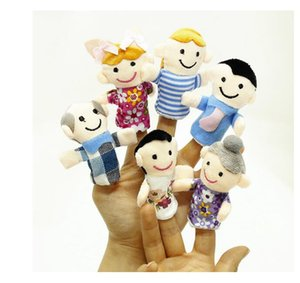 Family finger puppet A family of six finger pairs Baby toys Children's bedtime toys Kindergarten teachers teach dolls