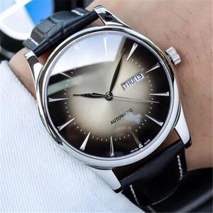 Ünlü Orijinal logo Marka Erkek Saatler Paslanmaz Çelik İzle Otomatik Hareketi Bilek İzle Moda Casual Saat L49