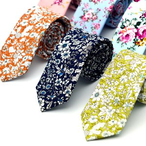 новый топ цветочные галстуки мода хлопок Пейсли галстуки для мужчин Corbatas тонкий костюмы Vestidos галстук галстуки старинные печатных Gravatas