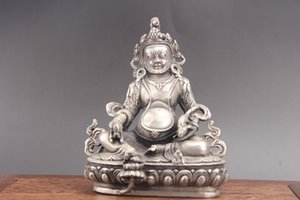Exquisita talla de mano de porcelana Cupronickel Buddhism statue as264