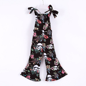 Vieeoease Girls Overalls INS Floral Kids Clothing 2018 Summer Fashion Sleeveless Vest Bow Stripe Jumpsuits EE-935