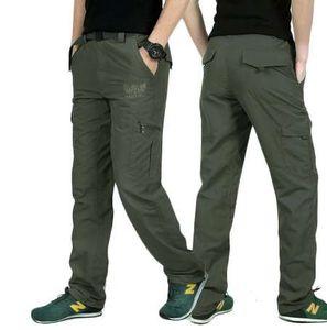 LOMAIYI 플러스 사이즈 Mens 군용 스타일 카고 바지 남성용 여름 통기성 남성용 바지 Joggers Army Pockets Casual Pants, AM005