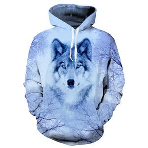 Wolf Hoodies Felpa con cappuccio Uomo / Donna 2018 Hip Hop Autunno Inverno Felpa con cappuccio Top Brand 3D Wolf Hoodie Felpa con cappuccio Dropship
