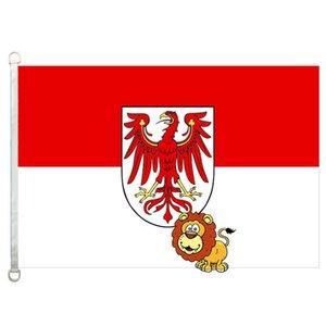 drapeau des drapeaux de pays Brandebourg, 90 * 150cm, 100% polyester, bannière, Impression numérique