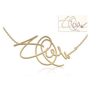 Charm Custom Handwriting Signature Necklace Nombre Personalizado Kolye Collier Customized Jewelry For Women Men Souvenir Gifts