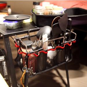 Multi Função De Armazenamento De Malha Rack De Metal Ao Ar Livre Pendurado Titular CHURRASCO Cozinha Cozinhar Sort out Saco Nova Chegada 15 gt B