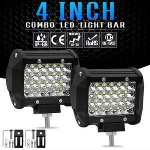Yeni varış 2 adet 72 W LED İş Işık IP68 12 V-24 V LED Spot LED Şerit Lamba Kurbağa Lambası Motosiklet Tekne Off Road Kamyon SUV ATV