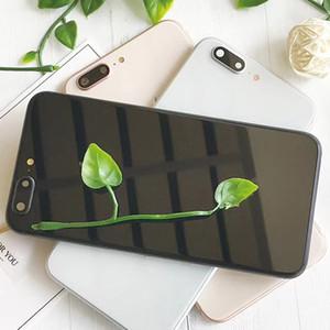 Custodia in alluminio per iPhone 8 con coperchio in vetro per iPhone 8 Plus