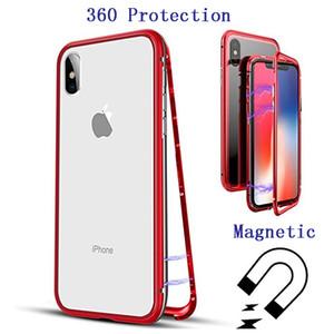 La adsorción magnética templado vitrina 360 Protección del panel posterior para el iPhone 11 Pro Max XS Xr 8 7 6 Samsung S10 S8 S9 Plus Plus Nota 9 8