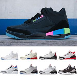 Quai 54 NRG Tinker Free Throw Line preto branco cimento III 3 Sapatos de Basquete Esportes Katrina Esporte Homem Tênis de grife Sapato Dos Homens 41-47