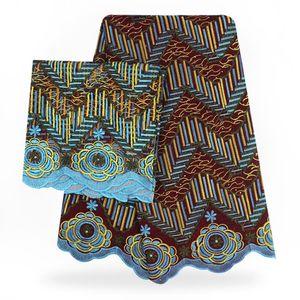 Alta calidad Swiss Voile Lace 2018 Soft African Lace Fabric 5Yards + 2 yardas African Swiss Cotton Voile tela de encaje para la boda