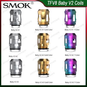 SMOK TFV8 Baby-V2 Spulen A1 A2 A3 Cores Heads Baby-V2 Ersatzspule für TFV8 Baby-V2 Atomizer-Behälter 100% Orginal