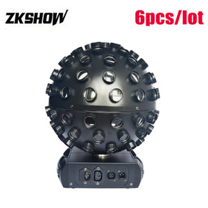 80% Discount Cabezas 5*18W RGBWA+UV 6in1 LED Magic Ball DMX Control DJ Disco KTV Bar Club Party Wedding Stage Equipment Free Shipping