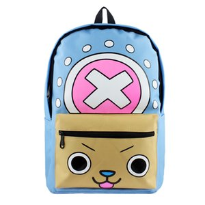Newest Tony Tony Chopper Fashion Cool Backpack ONE PIECE Comic Double-Shoulder Bag High Capacity Student Book Bag
