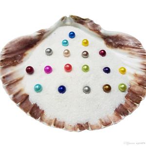 Wholesale2018 Akoya naturel 6-7mm Couleurs Mix perles d'eau douce ronde Oyster pour le bricolage Faire Collier Bracele Boucles d'oreilles Bijoux Bague cadeau A-0051
