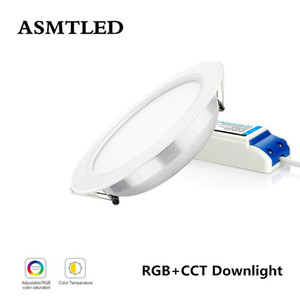Original Mi Light RGB + CCT Downlight de techo AC86-265V 6W 12W 15W Control remoto WiFi a prueba de agua Panel de luz LED con controlador LED