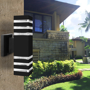 E27 Up Down Dual-Head LED Wandleuchte im Freien dekorativen wasserdichten Aluminium-Wandleuchte für Yard Porch Flur Balkon