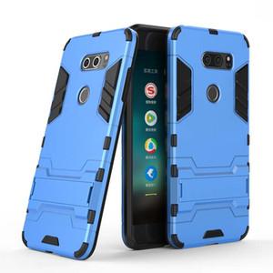 Pour LG V30 V30S Mini V20 V10 Housse Coque pour téléphone portable Slim Case Armure Hybrid Combo Cover Luxe 2 en 1 Anti Shock