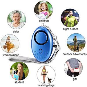 130dB Personal Security Allarme emergenza portachiavi di sicurezza con luce a LED e di emergenza di SOS di allarme per gli anziani Donna Bambini