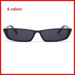 Retângulo do vintage Óculos De Sol Das Mulheres Designer de Marca Pequena Armação Óculos de Sol Retro Óculos Pretos Novos Óculos de Sol das Mulheres por atacado