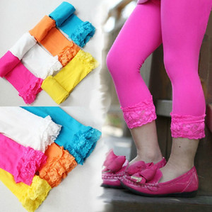 Девушки бархатные леггинсы кружевные брюки визуализации брюки детские детские бархатные колготки конфеты цвет