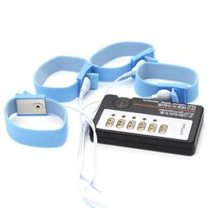 Секс-игрушки для мужчин пенис Extender расширение электро шок секс набор проводящих полос электрическая стимуляция играть петух кольца