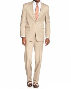 Brand New Beige 2 Piece Suit Men Wedding Tuxedos Peak Lapel Side Vent Groom Tuxedos Men Dinner Prom Party Blazer(Jacket+Pants+Tie)1311