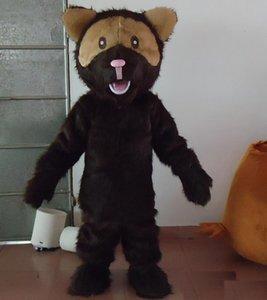 2018 Hohe Qualität heißer Brown Dog Party Kostüm Weihnachten Cute Puppy Maskottchen Outfit Halloween Party Kostüm Maskottchen Kostüme