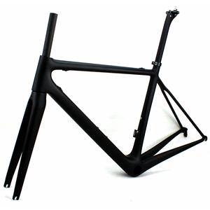 Cadres de vélo de route en carbone Superlight Cadre de vélo de course noir mat