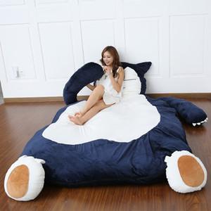 Japan Anime Snorlax Plüsch Sitzsack Doppelbett großen Cartoon Tatami Matratze niedlich kreative Schlafzimmer Schlafmatte temporäre Bett DY50340