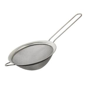 Нержавеющая сталь тонкой сетки ситечко дуршлаг Мука сито с ручкой сок и чай ситечко кухонные инструменты ZA6746