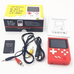 La console de jeu de poche FC Mini de poche permet de stocker le jeu 129 jeu. Écran TFT Surface Surface Support TV Sortie Meilleur cadeau pour enfants PK RS-6