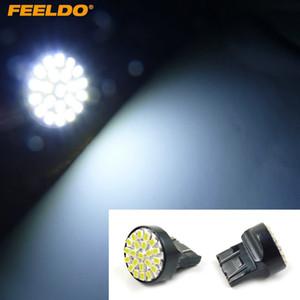 FEELDO 10PCS White 7443 T20 22LED 1206SMD Brake Tail Turn Signal Car LED Light Bulbs #3681