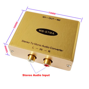 Stereo to Mono Audio converter with isolation output Stereo Stereo Mono adapter