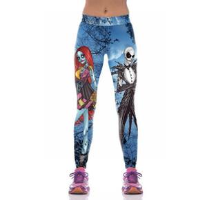 Kadınlar için sıcak pantolon, Cadılar Bayramı cesedi gelin serisi Yoga Pantolon Kumaş adı Lycra kumaş malzemeler polyester elyaf