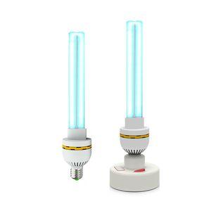 E27 VUV domésticos UV Desinfecção lâmpada 15W 20W 30W UVC quartzo ultravioleta germicida Lâmpadas 110V 220V T6 esterilizador UV lâmpada