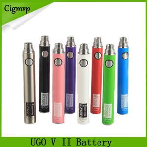 Oringinal Evod UGO V II V 2 650mAh 900mAh Ego 510 Batería 8 colores Micro USB Carga Passthrough E-cig O Bolígrafos Vape 0270001