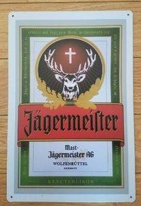 оптовые продажи 20x30cm jager корона экстра Водка хорошее вино l пиво стайлер плакат для бар паб декор стен старинные металлические картины олова знак таблички