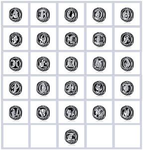 Charms A-Z 26PCS Carta Beads Fit para colar pulseiras jóias pingente Acessórios oco Liga Cristal Beads Acessórios