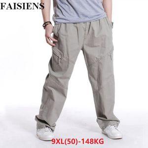 FAISIENS Uomo 8XL 9XL Pantaloni casual Plus Size 6XL 7XL Taglie forti Large Pocket Style Pantaloni Autunno Outdoor Pantaloni dritti