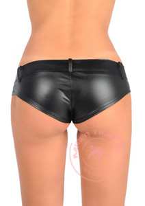 Hot Sexy PU High Cut MINI Shorts Faux Leather Booty Shorts Micro Mini Cheeky Bikini Hot Short Pants Bottom Short Jean FX1052