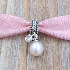 Auténticos 925 cuentas de plata esterlina luminosa elegancia encanto encantos colgante se adapta al estilo europeo joyería de Pandora collar de las pulseras 791871P